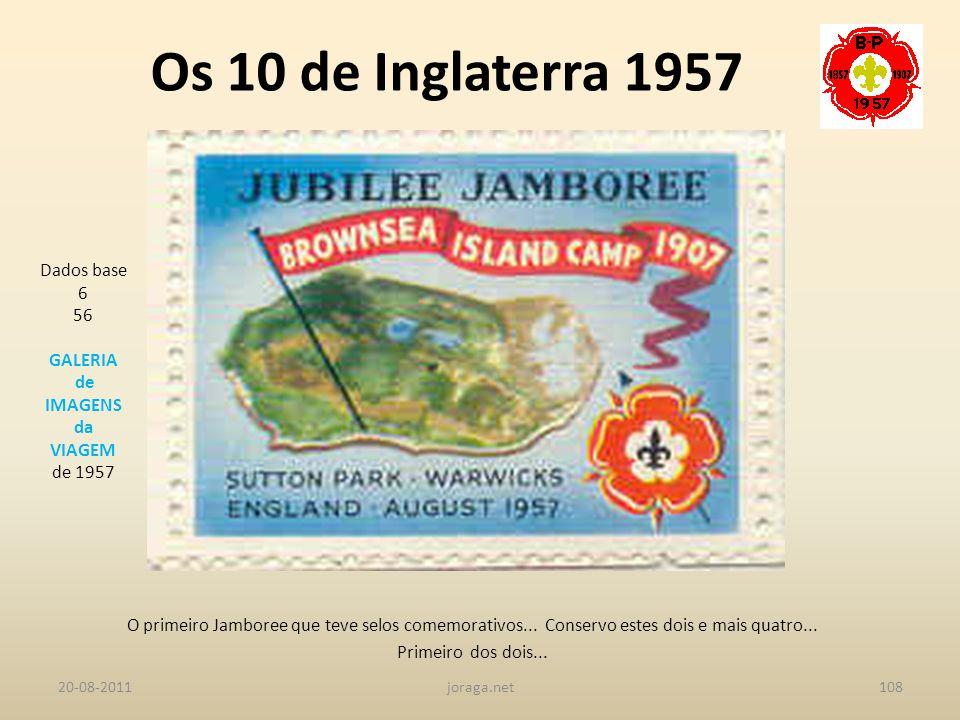 Os 10 de Inglaterra 1957 Dados base 6 56 GALERIA de IMAGENS da VIAGEM