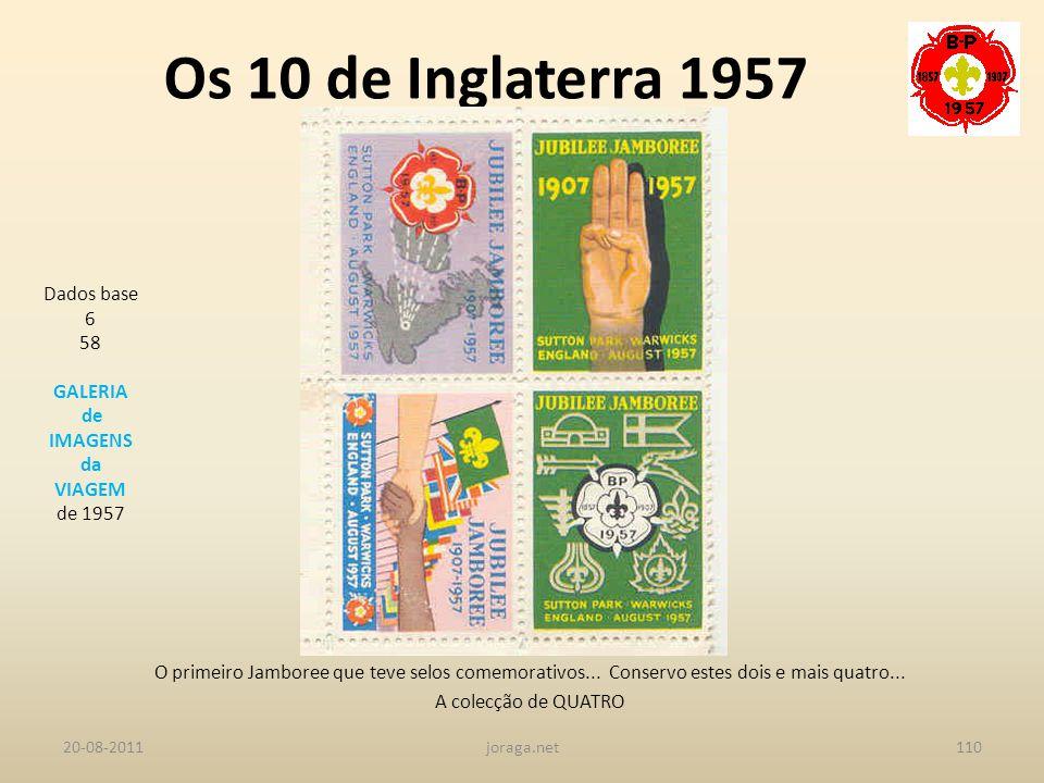 Os 10 de Inglaterra 1957 Dados base 6 58 GALERIA de IMAGENS da VIAGEM