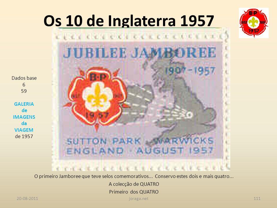 Os 10 de Inglaterra 1957 Dados base 6 59 GALERIA de IMAGENS da VIAGEM