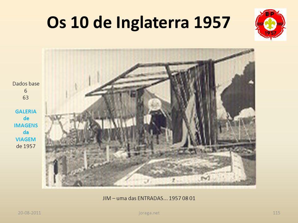 Os 10 de Inglaterra 1957 Dados base 6 63 GALERIA de IMAGENS da VIAGEM