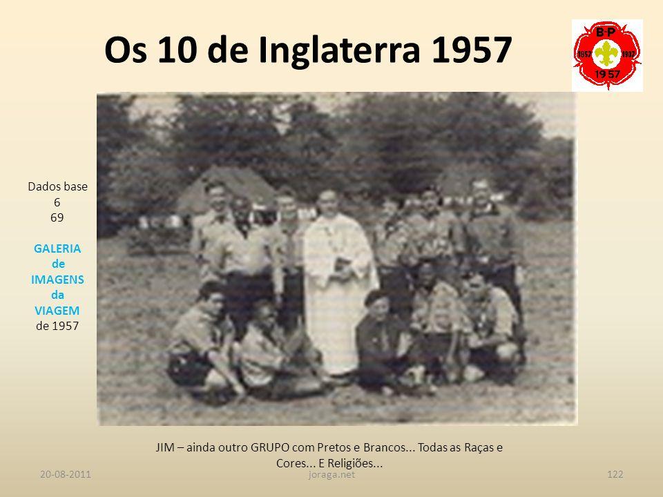 Os 10 de Inglaterra 1957 Dados base 6 69 GALERIA de IMAGENS da VIAGEM
