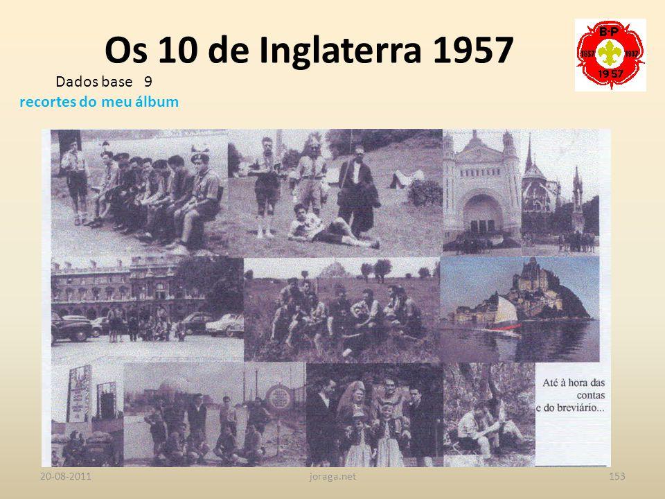 Os 10 de Inglaterra 1957 Dados base 9 recortes do meu álbum 20-08-2011