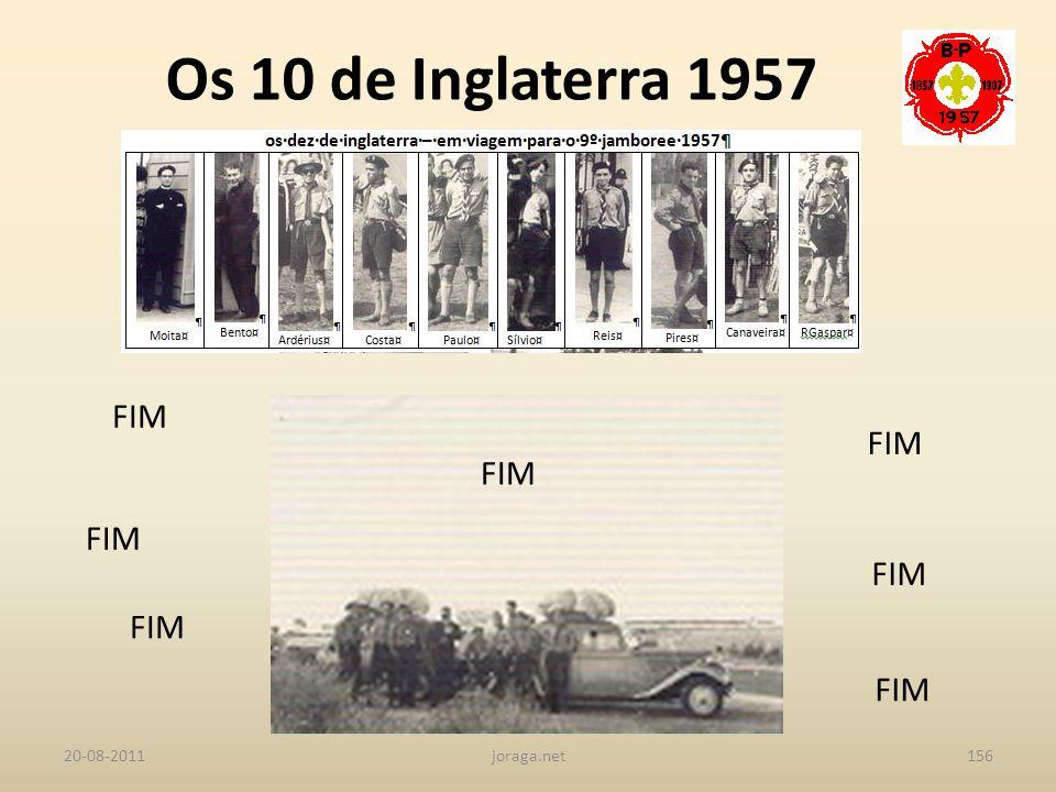 Os 10 de Inglaterra 1957 FIM FIM FIM FIM FIM FIM FIM 20-08-2011
