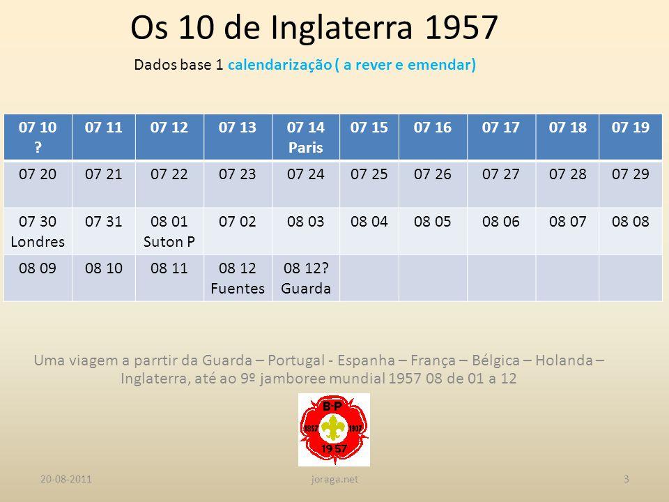 Dados base 1 calendarização ( a rever e emendar)
