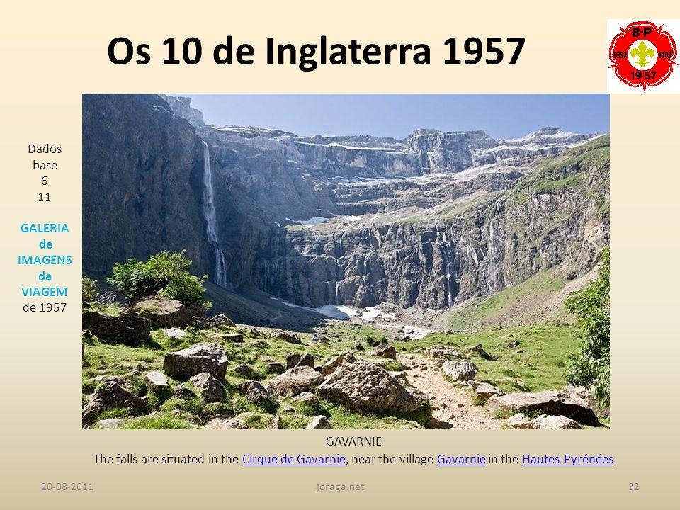 Os 10 de Inglaterra 1957 Dados base 6 11 GALERIA de IMAGENS da VIAGEM