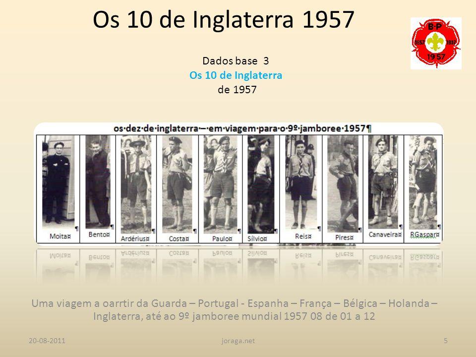 Os 10 de Inglaterra 1957 Dados base 3 Os 10 de Inglaterra de 1957