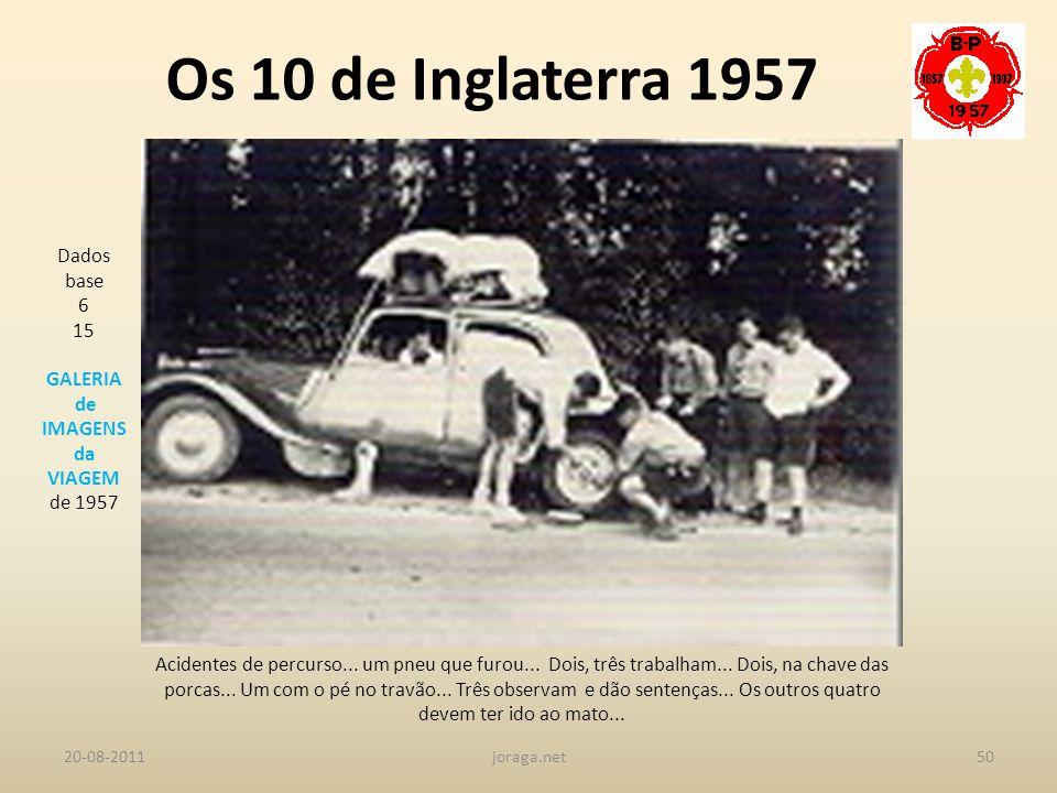 Os 10 de Inglaterra 1957 Dados base 6 15 GALERIA de IMAGENS da VIAGEM