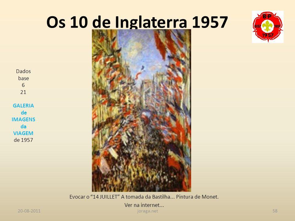 Evocar o 14 JUILLET A tomada da Bastilha... Pintura de Monet.
