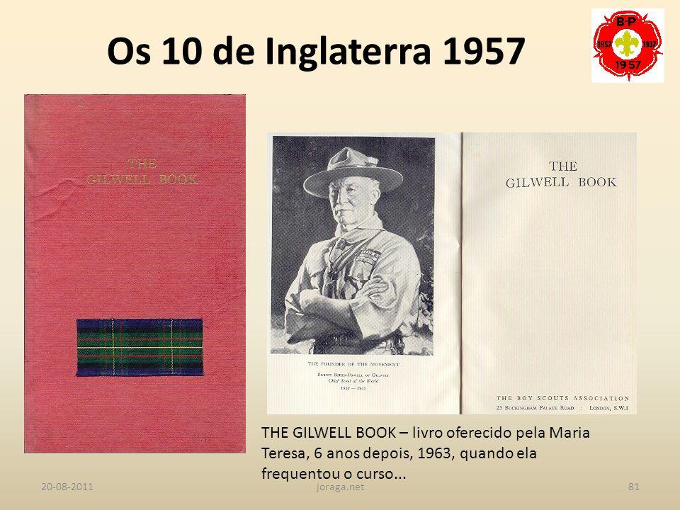 Os 10 de Inglaterra 1957 THE GILWELL BOOK – livro oferecido pela Maria Teresa, 6 anos depois, 1963, quando ela frequentou o curso...