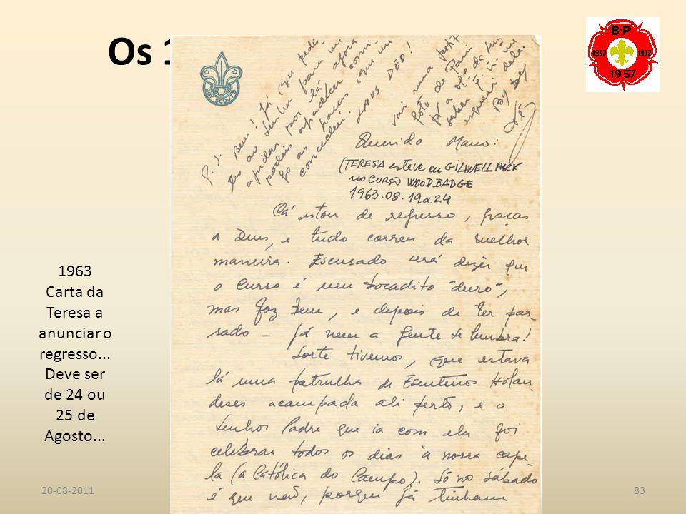 Carta da Teresa a anunciar o regresso...