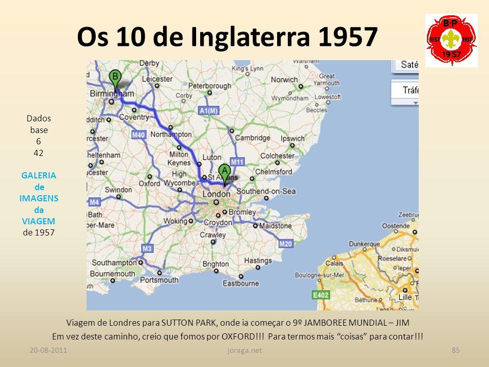 Os 10 de Inglaterra 1957 Dados base 6 42 GALERIA de IMAGENS da VIAGEM