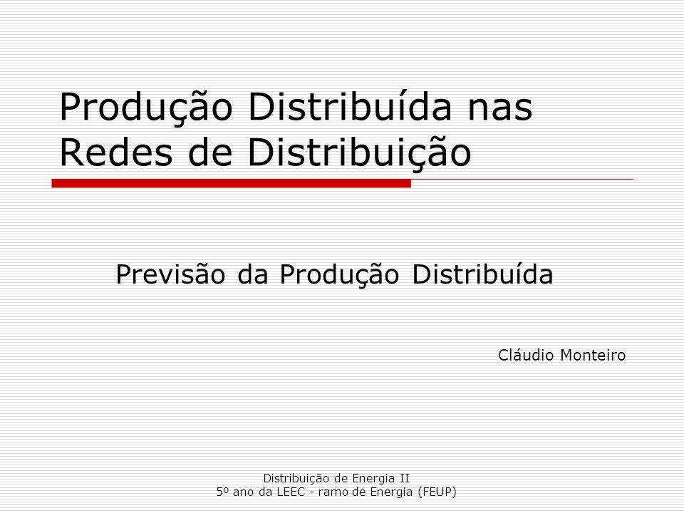 Produção Distribuída nas Redes de Distribuição