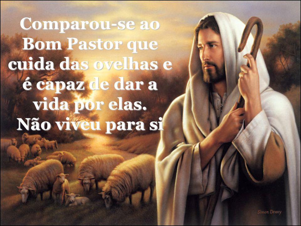 Comparou-se ao Bom Pastor que cuida das ovelhas e é capaz de dar a vida por elas. Não viveu para si