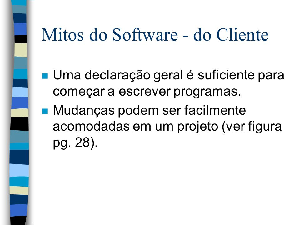 Mitos do Software - do Cliente