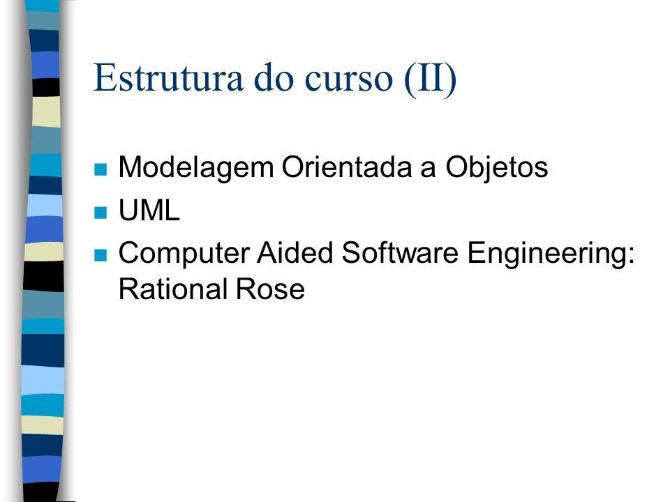 Estrutura do curso (II)
