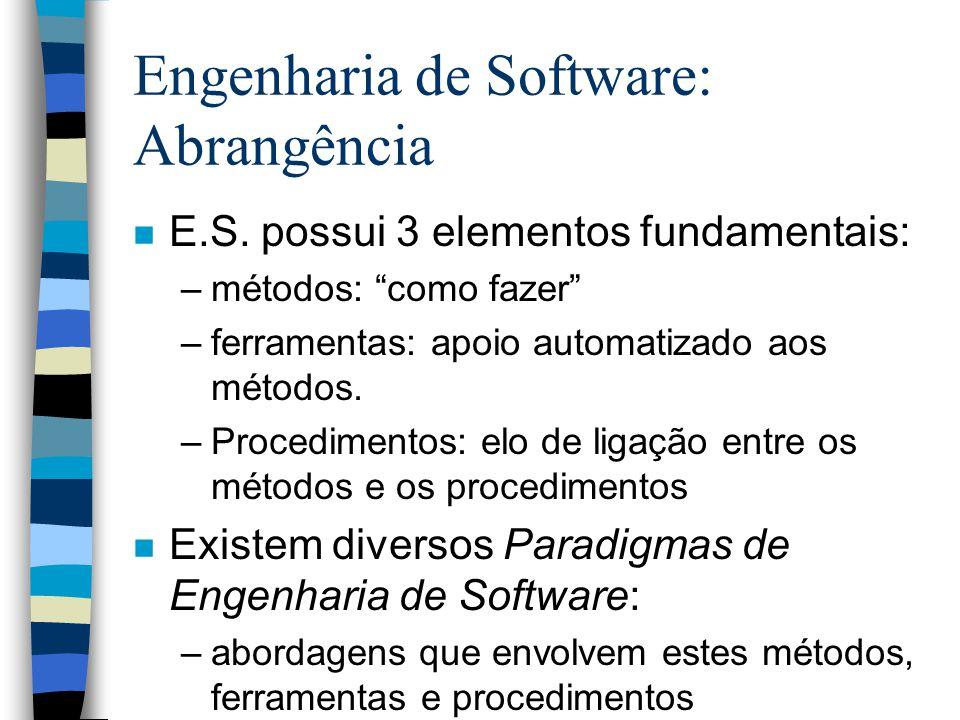 Engenharia de Software: Abrangência