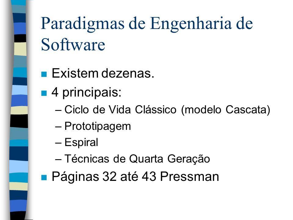 Paradigmas de Engenharia de Software