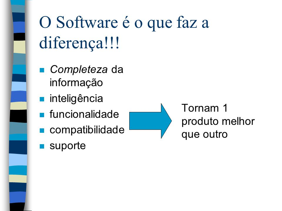O Software é o que faz a diferença!!!