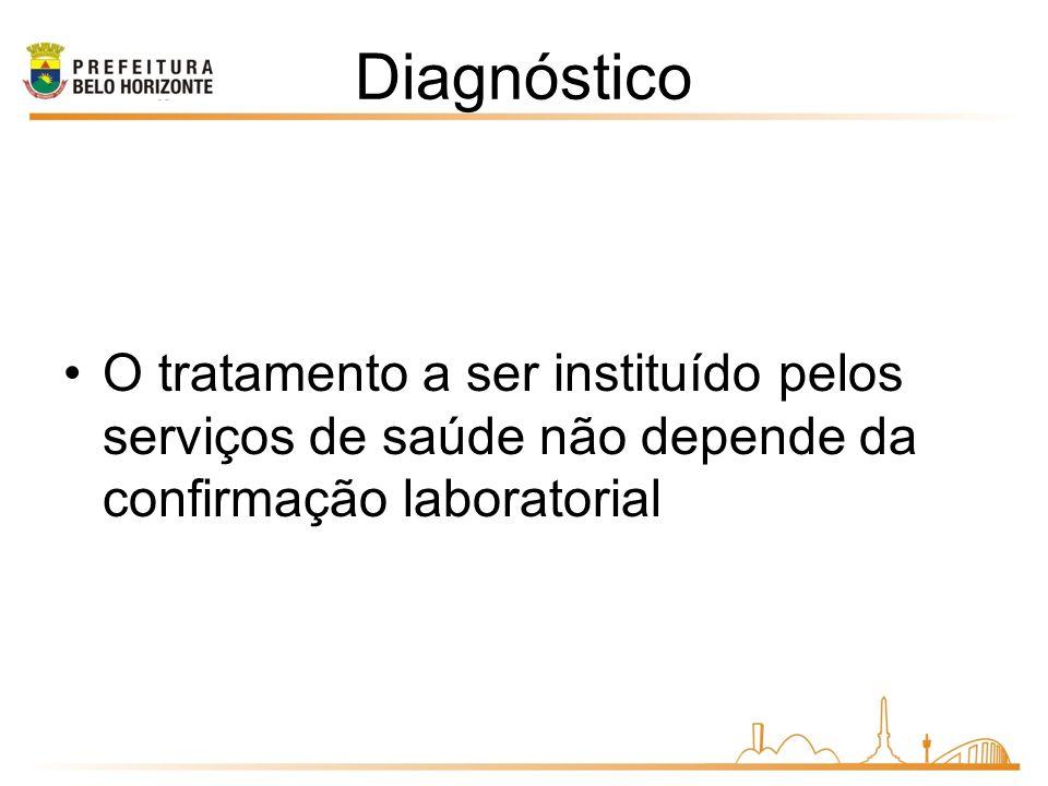 Diagnóstico O tratamento a ser instituído pelos serviços de saúde não depende da confirmação laboratorial.