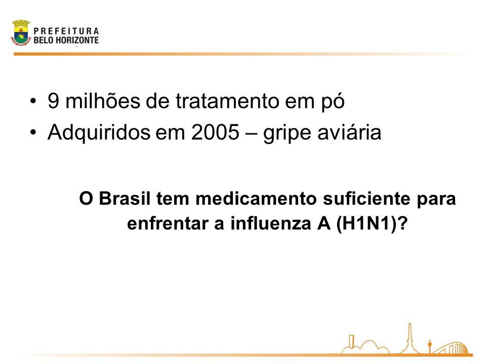 O Brasil tem medicamento suficiente para enfrentar a influenza A (H1N1)