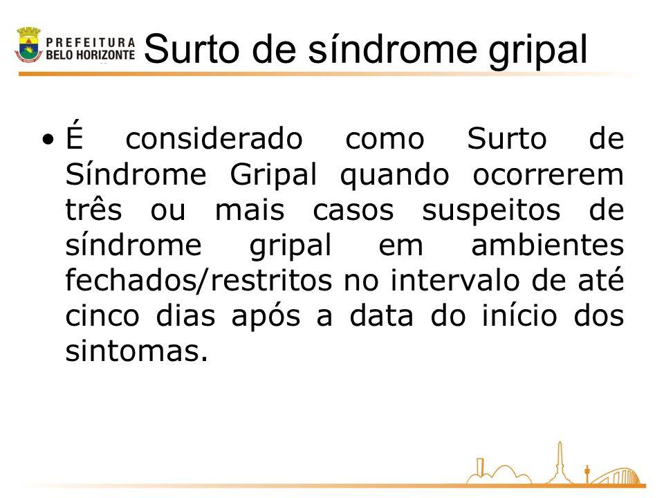 Surto de síndrome gripal