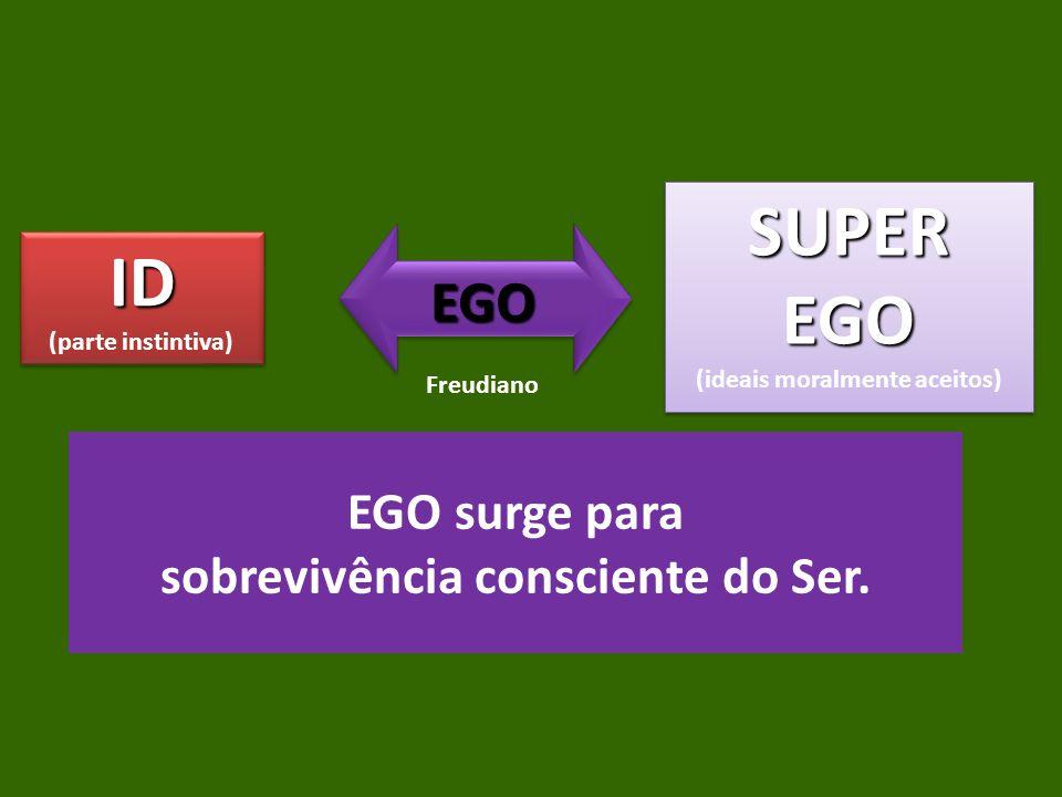 EGO surge para sobrevivência consciente do Ser.