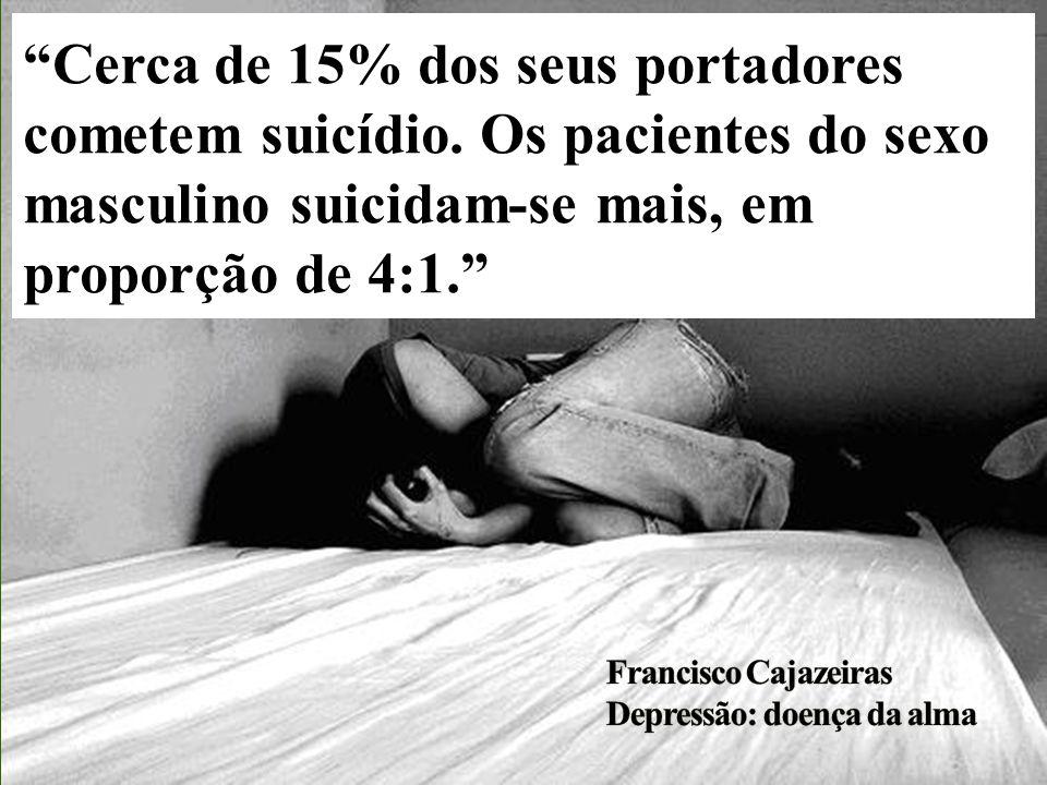 Cerca de 15% dos seus portadores cometem suicídio