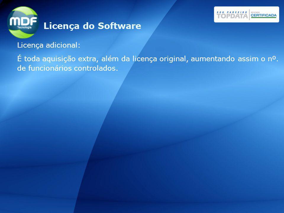 Licença do Software Licença adicional: