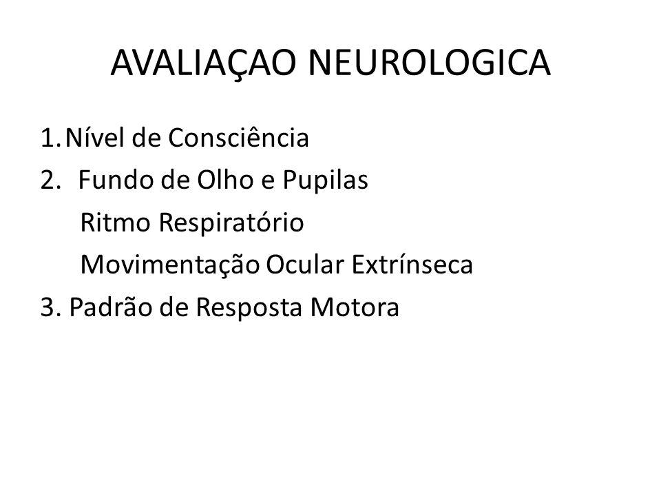 AVALIAÇAO NEUROLOGICA