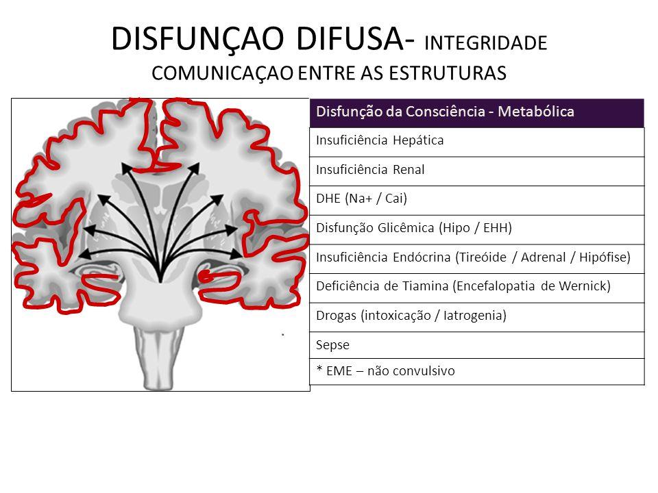 DISFUNÇAO DIFUSA- INTEGRIDADE COMUNICAÇAO ENTRE AS ESTRUTURAS