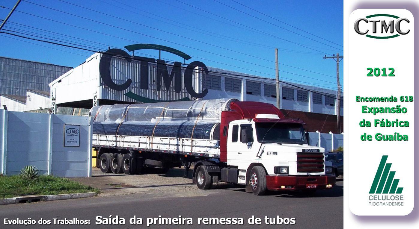 2012 da Fábrica de Guaíba Encomenda 618 Expansão