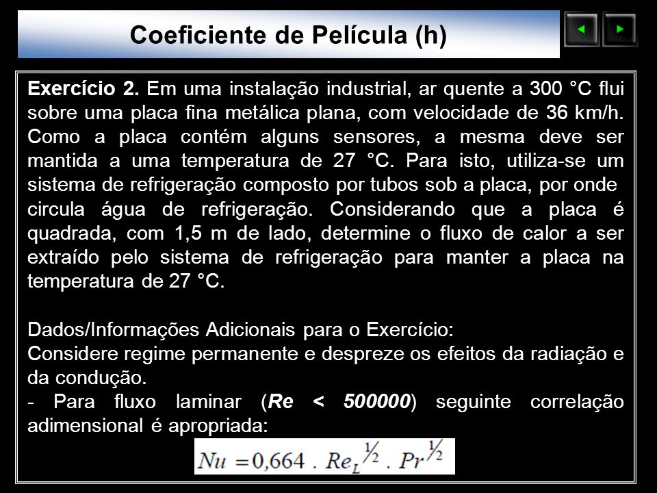 Coeficiente de Película (h)