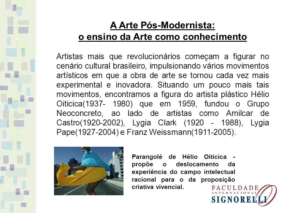A Arte Pós-Modernista: