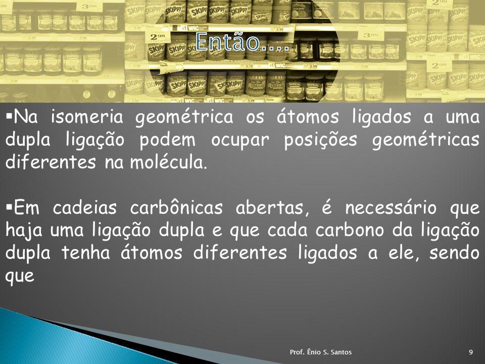 Então.... Na isomeria geométrica os átomos ligados a uma dupla ligação podem ocupar posições geométricas diferentes na molécula.