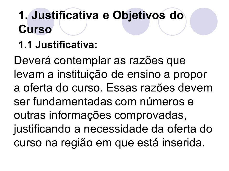 1. Justificativa e Objetivos do Curso