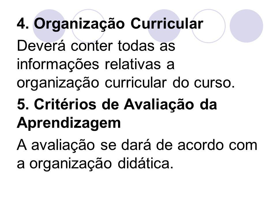 4. Organização Curricular