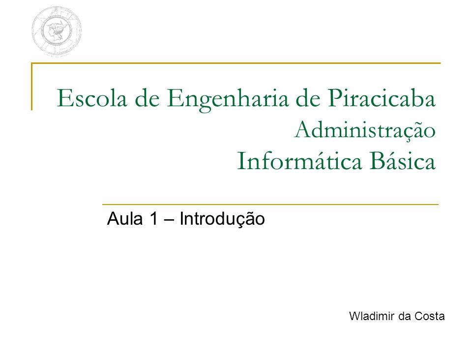 Escola de Engenharia de Piracicaba Administração Informática Básica