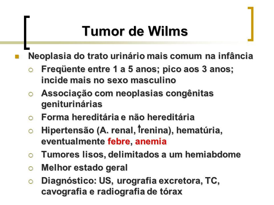 Tumor de Wilms Neoplasia do trato urinário mais comum na infância