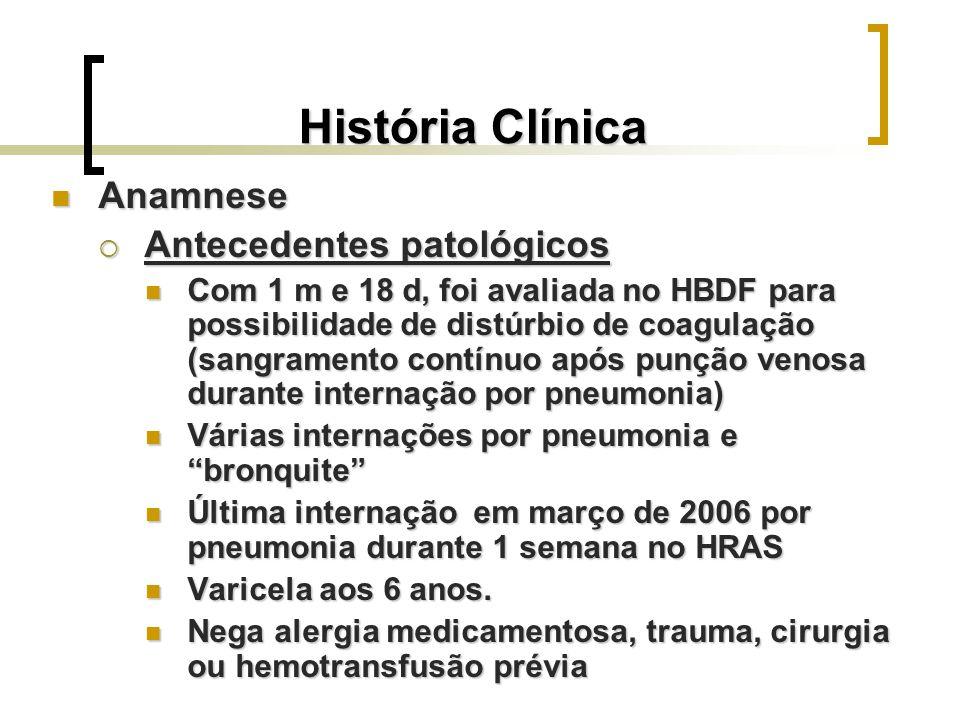 História Clínica Anamnese Antecedentes patológicos