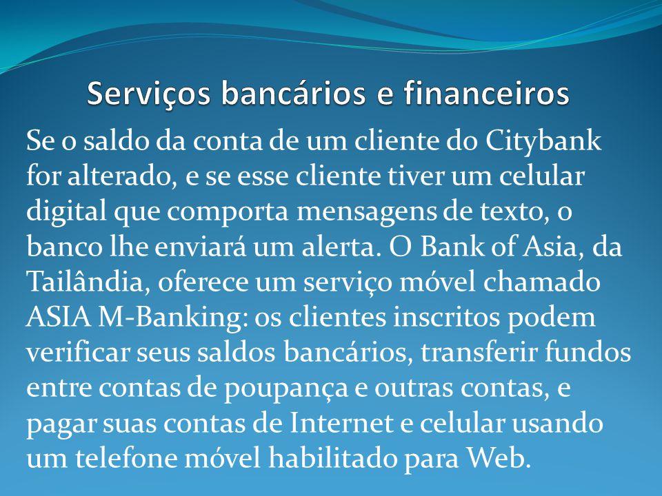 Serviços bancários e financeiros