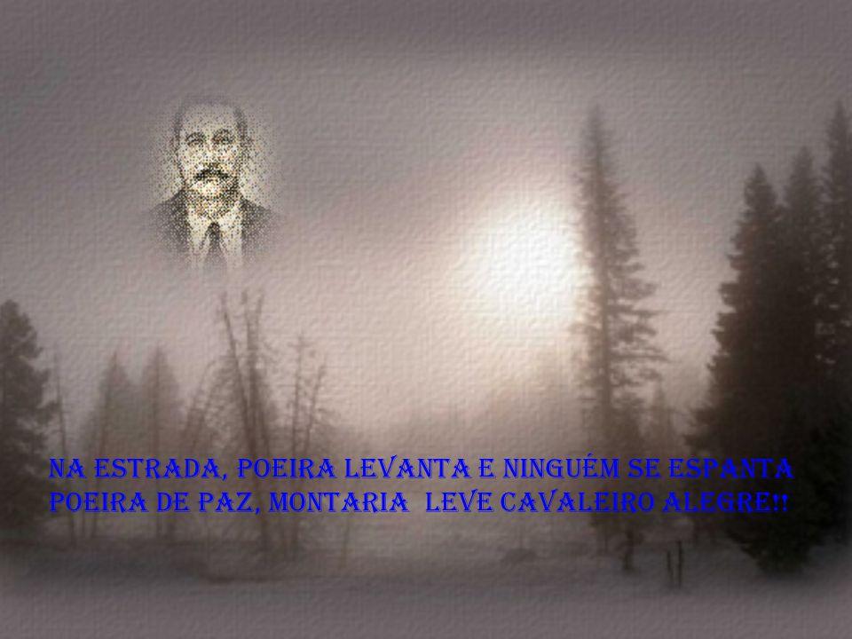 Na estrada, poeira levanta e ninguém se espanta poeira de paz, montaria leve cavaleiro alegre!!