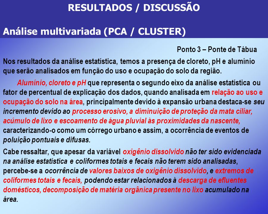 RESULTADOS / DISCUSSÃO