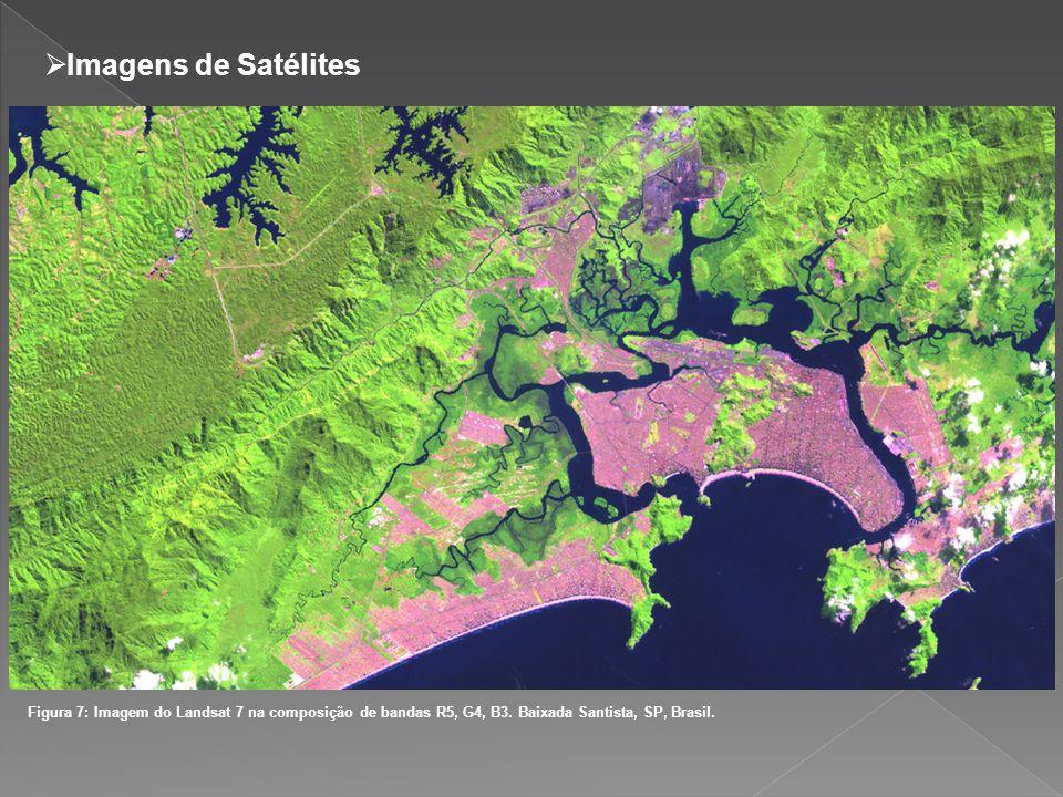 Imagens de Satélites Figura 7: Imagem do Landsat 7 na composição de bandas R5, G4, B3.