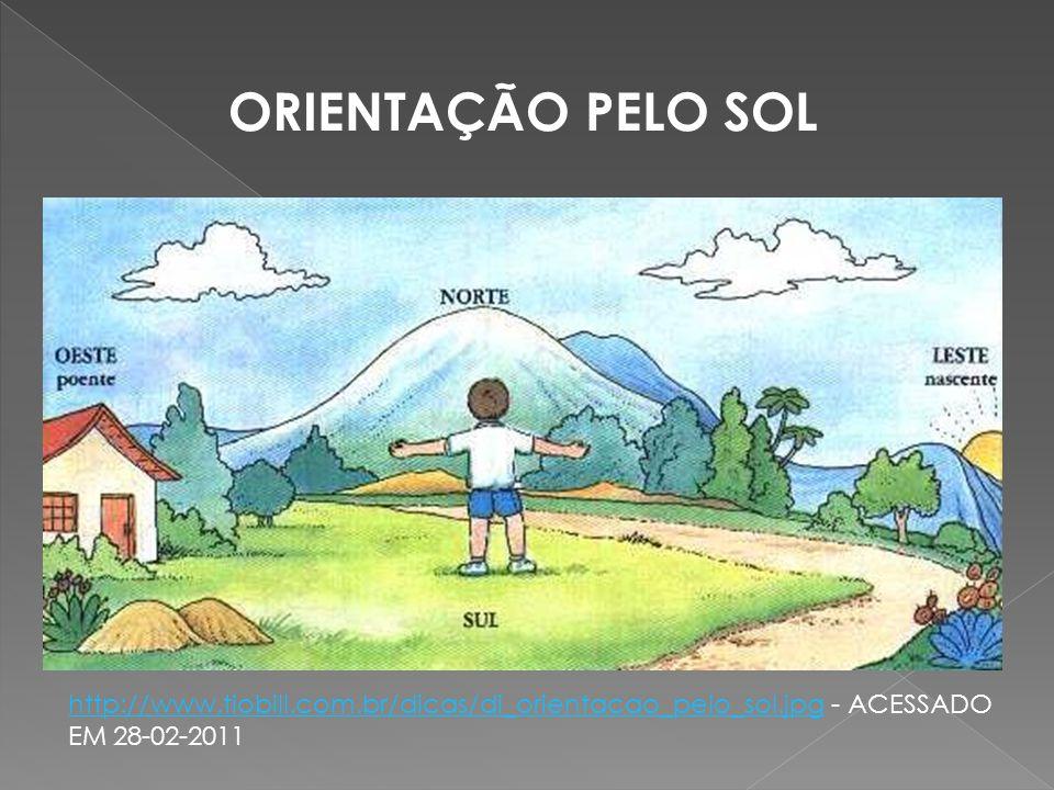 ORIENTAÇÃO PELO SOL http://www.tiobill.com.br/dicas/di_orientacao_pelo_sol.jpg - ACESSADO EM 28-02-2011.