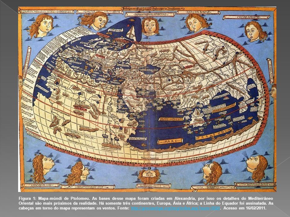 Figura 1: Mapa-múndi de Ptolomeu