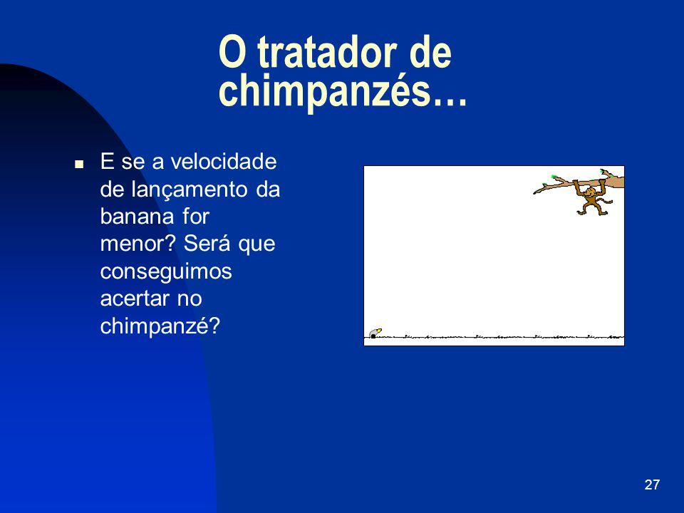 O tratador de chimpanzés…