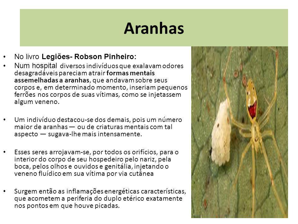rp Aranhas No livro Legiões- Robson Pinheiro: