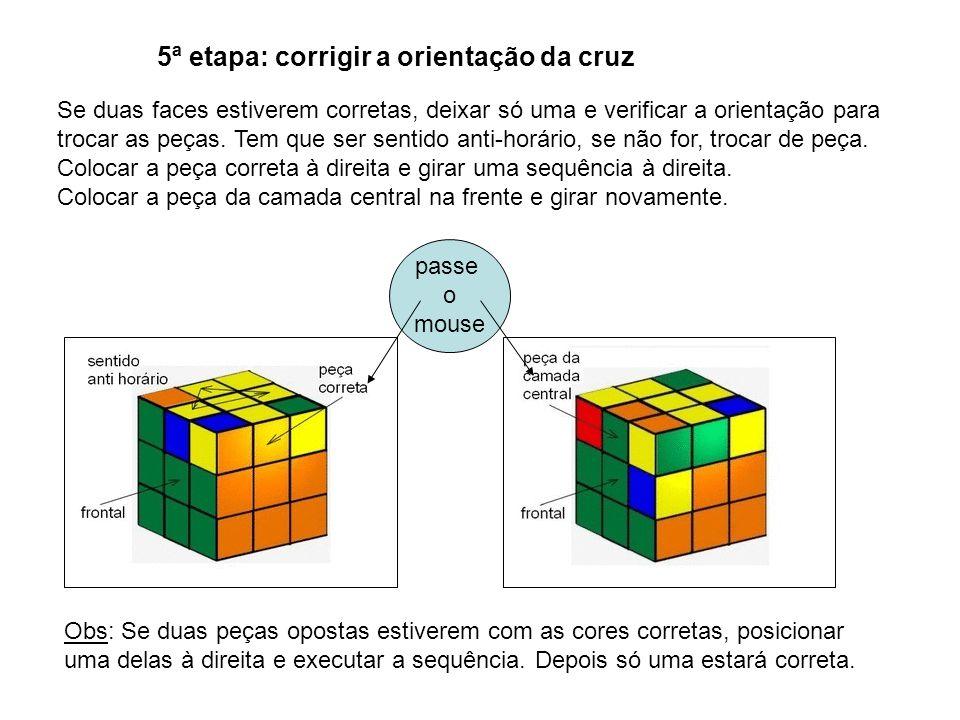 5ª etapa: corrigir a orientação da cruz