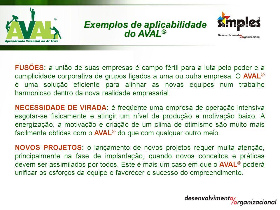 Exemplos de aplicabilidade do AVAL®
