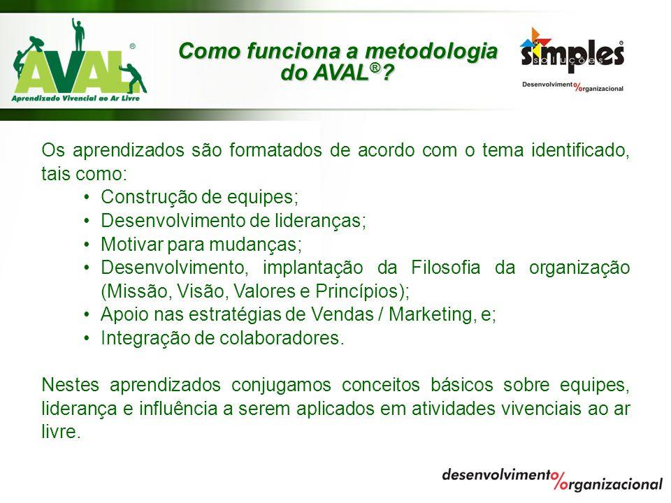 Como funciona a metodologia do AVAL®